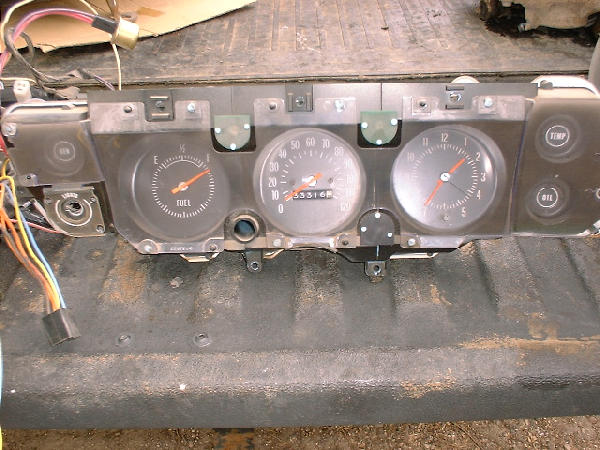 1971 Chevelle Ss Cluster  U0026 Wiring Harness  For Floor Shift