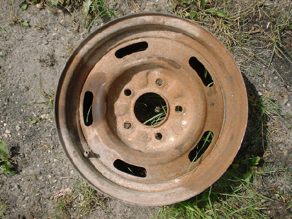 Chevy Nova 14 5 Da Code Rally Wheel This Is A Nice Straight That Needs Sandblasted But Not Scaley Very Rare